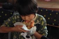 ピザ・バウムクーヘン作り