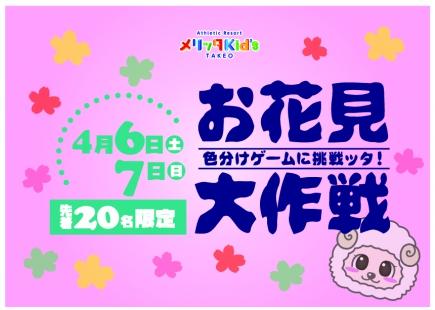 お花見大作戦!!~色分けゲーム~